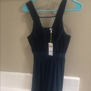 BCBG Teal and Lace Maxi